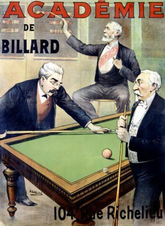 Academie de Billard by A. Gallice