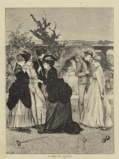 A Game of Croquet--Giclee Print