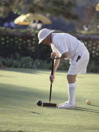 A Game of Croquet--Photographic Print