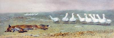 A Game of Fox and Geese, 1868-Briton Rivi?re-Giclee Print