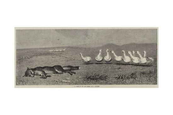A Game of Fox and Geese-Briton Riviere-Giclee Print