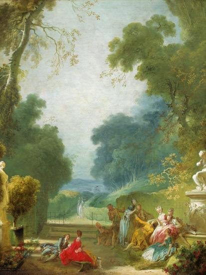 A Game of Hot Cockles, c.1775-80-Jean-Honore Fragonard-Giclee Print