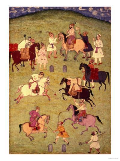 A Game of Polo, from the Large Clive Album--Giclee Print