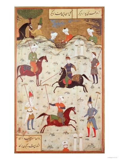 A Game of Polo--Giclee Print