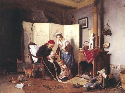 A Game of Soldiers, 1878-Gaetano Chierici-Giclee Print