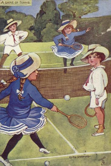 A Game of Tennis--Giclee Print