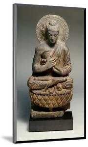 A Gandhara Grey Schist Figure of Buddha, 2nd Century