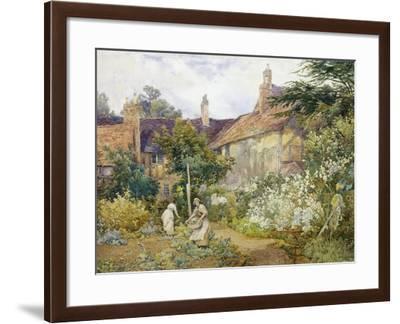 A Garden at Warwick-George Hodgson-Framed Giclee Print