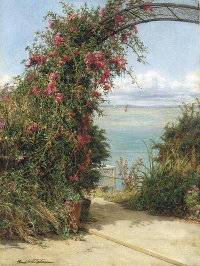 A Garden by the Sea-Frank Topham-Giclee Print