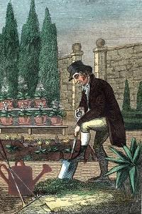A Gardener Digging with a Spade, 1821