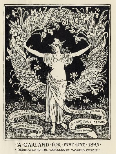 A Garland for May Day, 1895-Walter Crane-Giclee Print
