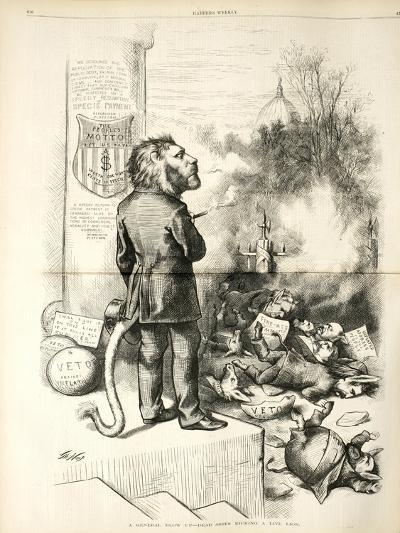 A General Blow Up - Dead Asses Kicking a Live Lion, 1874-Thomas Nast-Giclee Print