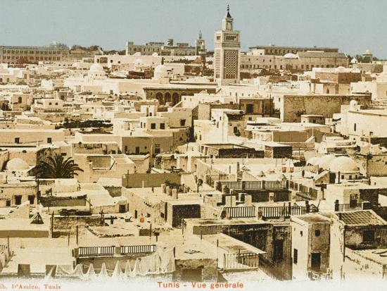 A General Panoramic View of the Rooftops of Tunis, Tunisia--Photographic Print