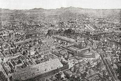 A General View of Rome, Italy as it Would Have Appeared in the Time of Aurelian--Giclee Print