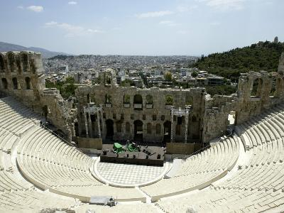 A General View of the Herod Atticus Theater at the Foot of the Acropolis Hill--Photographic Print