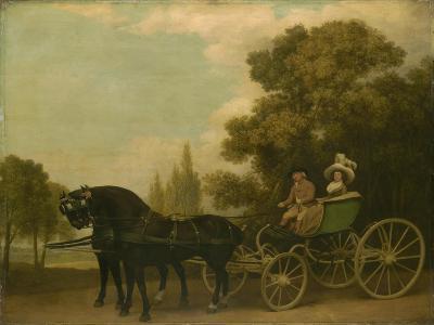 A Gentleman Driving a Lady in a Phaeton, 1787-George Stubbs-Giclee Print