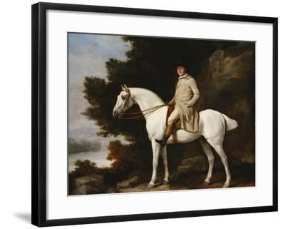 A Gentleman on a Grey Horse in a Rocky Wooded Landscape, 1781-George Stubbs-Framed Giclee Print