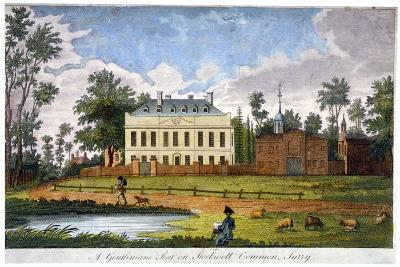 A Gentleman's Seat on Stockwell Common, Lambeth, London, 1792--Giclee Print