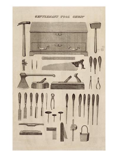 A Gentleman's Tool Chest, from the Catalogue of Cutler and Co. (Engraving)-English-Giclee Print