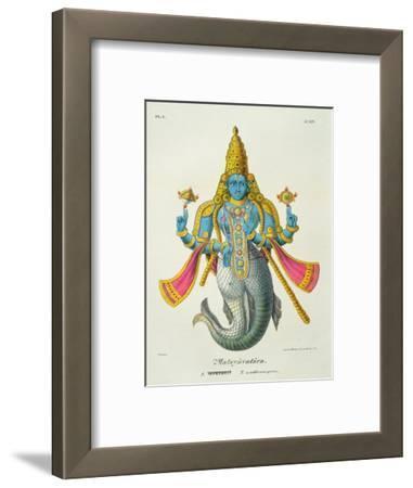 Matsyavatara or Matsya, from 'L'Inde Francaise...', Engraved by Marlet and Cie, Pub Paris 1827-1835