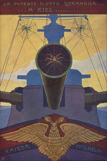 A German Battleship Covered in Cobwebs--Giclee Print