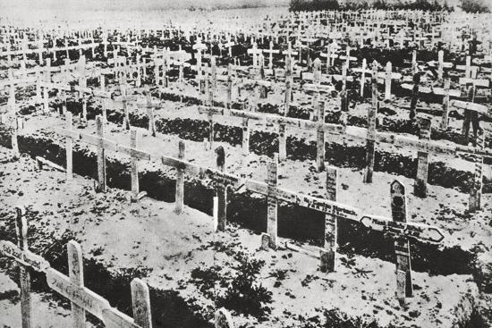 A German cemetery in France, World War I, c1914-c1918-Unknown-Photographic Print