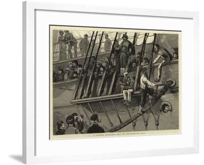 A German Emigrant Ship in Southampton Dock-Joseph Nash-Framed Giclee Print