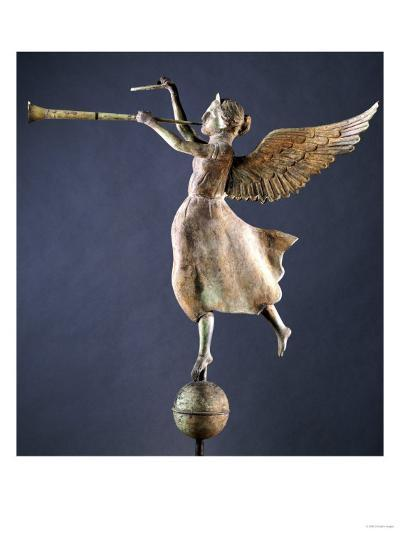 A Gilded and Molded Copper Weathervane of the Angel Gabriel, American, Late 19th Century--Giclee Print