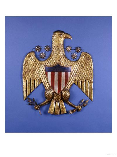 A Gilded Pressed Tin Eagle, American, 20th Century--Giclee Print