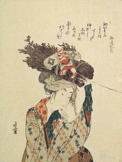 A Girl from Ohara, 1806-1815-Katsushika Hokusai-Giclee Print