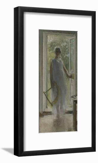 A Girl on the Doorstep-Konstantin Alexeyevich Korovin-Framed Giclee Print