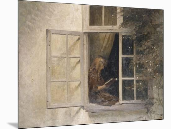 A Girl Reading in a Window-Peter Ilsted-Mounted Giclee Print