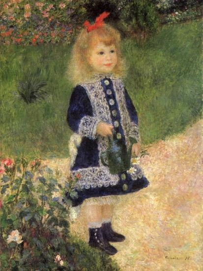 A Girl with a Watering Can, 1876-Pierre-Auguste Renoir-Premium Giclee Print