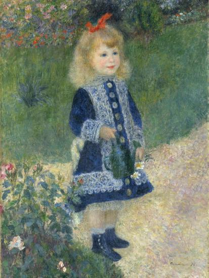 A Girl with a Watering Can, 1876-Pierre-Auguste Renoir-Giclee Print