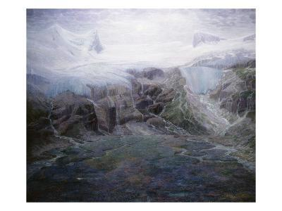 A Glacier in a High Valley-Emile Mediz-Pelikan-Giclee Print