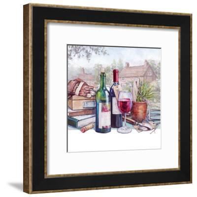 A Glass Of Red-Harrison Ripley-Framed Art Print