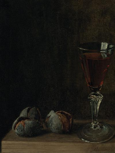 A Glass of Wine with Walnuts on a Table-Balthasar Denner-Giclee Print