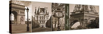 A Glimpse of Paris-Jeff Maihara-Stretched Canvas Print