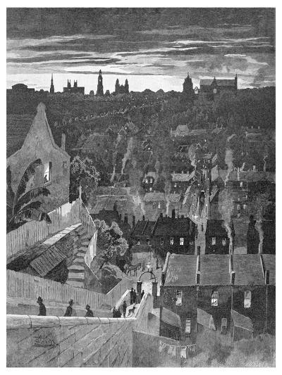 A Glimpse of Sydney from Darlinghurst, New South Wales, Australia, 1886-W Mollier-Giclee Print