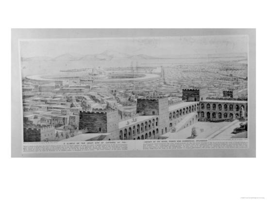A Glimpse of the Great City of Carthage at the Height of Its Naval Power and Commercial Splendour--Giclee Print
