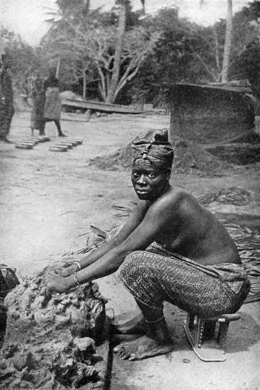 A Gold Coast Potter and Her Clay, Ghana, West Africa, 1922-PA McCann-Giclee Print