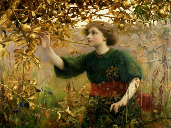 A Golden Dream, 1893-Thomas Cooper Gotch-Giclee Print