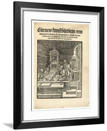 A Goldsmith's Workshop, C. 1538-Hans Brosamer-Framed Giclee Print