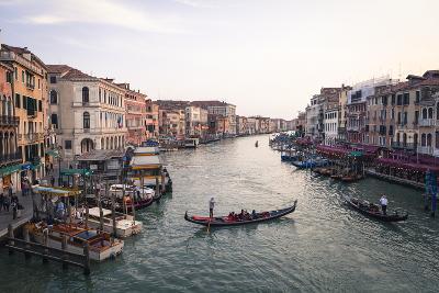 A Gondola Crossing the Grand Canal, Venice, UNESCO World Heritage Site, Veneto, Italy, Europe-Amanda Hall-Photographic Print
