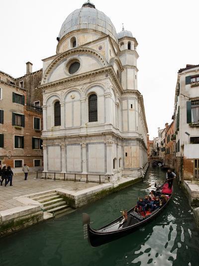 A Gondola Passing the Santa Maria Dei Miracoli Church-James P^ Blair-Photographic Print