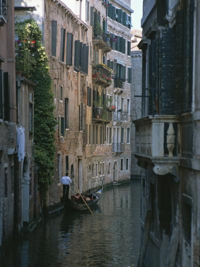 A Gondolier and Two Tourists on a Canal in Venice-Taylor S^ Kennedy-Photographic Print