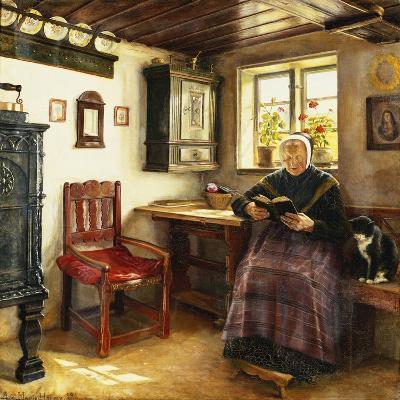 A Good Book, 1899-Anne Marie Hansen-Giclee Print