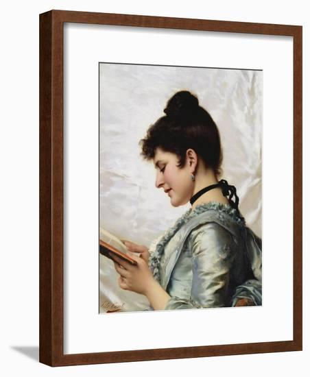 A Good Book-Tito Conti-Framed Giclee Print
