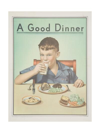 A Good Dinner Poster--Giclee Print