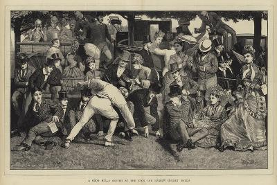 A Good Hit, a Sketch at the Eton and Harrow Cricket Match-William III Bromley-Giclee Print
